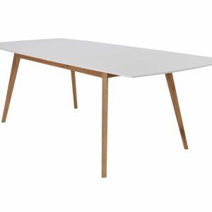 MILLIE Förlängningsbart bord 180 Vit/Ek